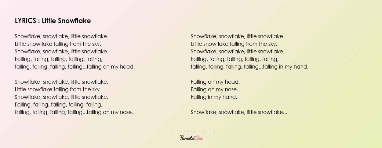 little snowflake lyrics