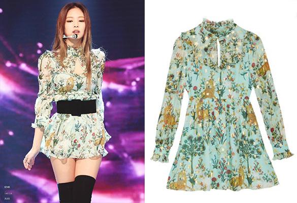 เจนนี่ สวมชุด PICCOLA DRESS จากแบรนด์ Sretsis ราคา 25,000 บาท