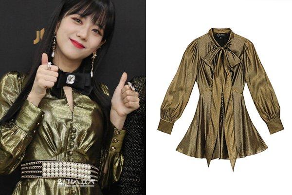 จีซู สวมชุด PIXIE JUMPSUIT จากแบรนด์ Sretsis ราคา 19,000 บาท