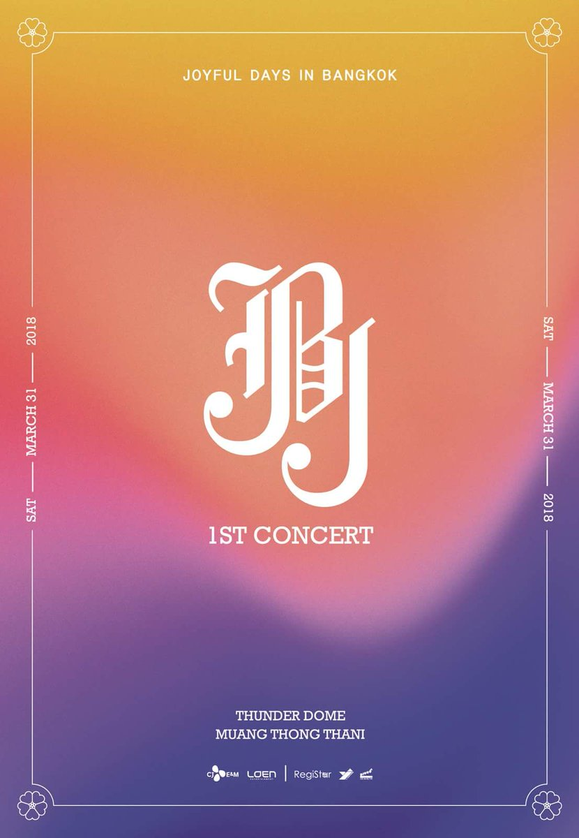 JBJ 1st CONCERT [JOYFUL DAYS] IN BANGKOK